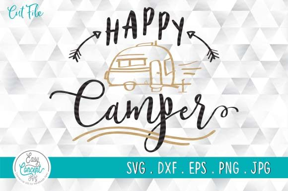 Happy Camper, Travel and Camper  Graphic Crafts By EasyConceptSvg