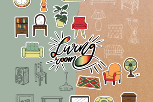 Living Room Doodle Pack - 4 Styles Graphic Objects By WADLEN