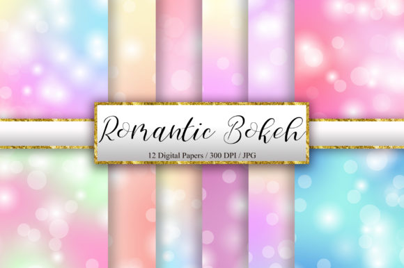 Romantic Bokeh Digital Papers Background Graphic Backgrounds By PinkPearly