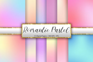 Print on Demand: Romantic Pastel Digital Paper Background Graphic Backgrounds By PinkPearly
