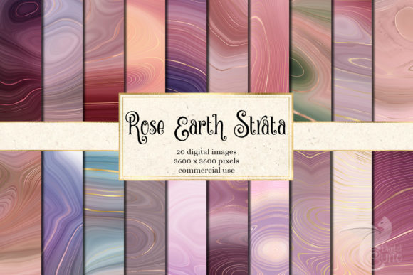 Print on Demand: Rose Earth Strata Agate Geode Textures Gráfico Texturas Por Digital Curio