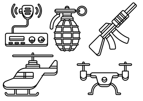Military Black Graphic Icons By ssiimpti73