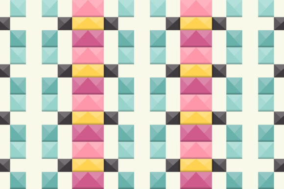 Print on Demand: Square Block 3d Pattern Graphic Patterns By noory.shopper