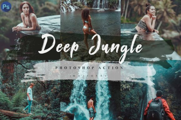 Print on Demand: 12 Deep Jungle Photoshop Actions ACR LUT Graphic Actions & Presets By 3Motional