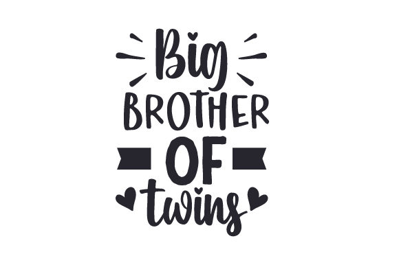 Big Brother of Twins Family Craft Cut File By Creative Fabrica Crafts