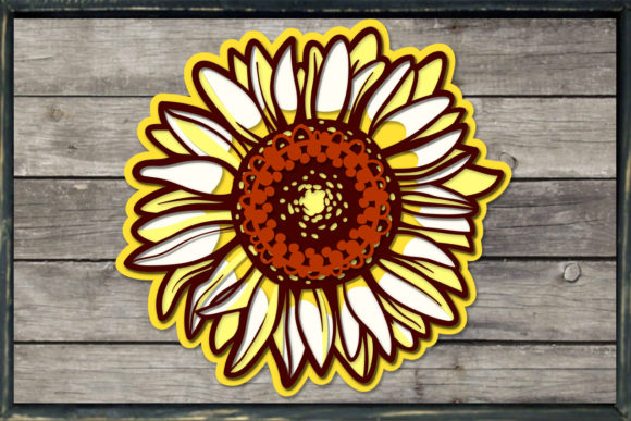Download 3D Layered Sunflower - 5 SVG Cut Files (Graphic) by ...