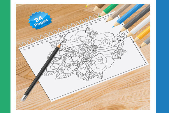 Birds Coloring Book for Kids and Adult Graphic Coloring Pages & Books Adults By Coloring World - Image 1