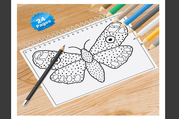 Print on Demand: Butterfly Coloring Book for Adults Graphic Coloring Pages & Books Adults By Coloring World