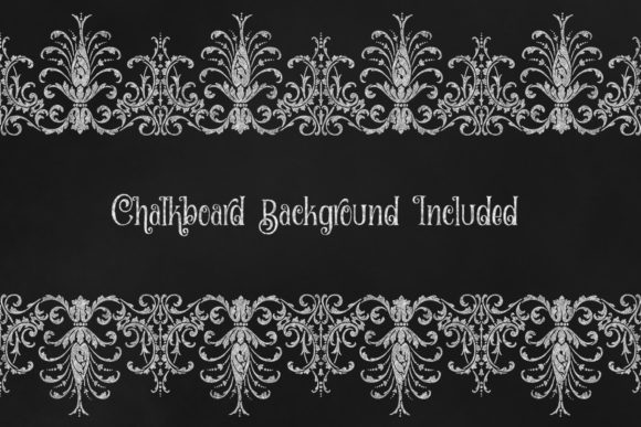 Print on Demand: Chalkboard Ornaments Clipart Graphic Illustrations By Digital Curio - Image 2