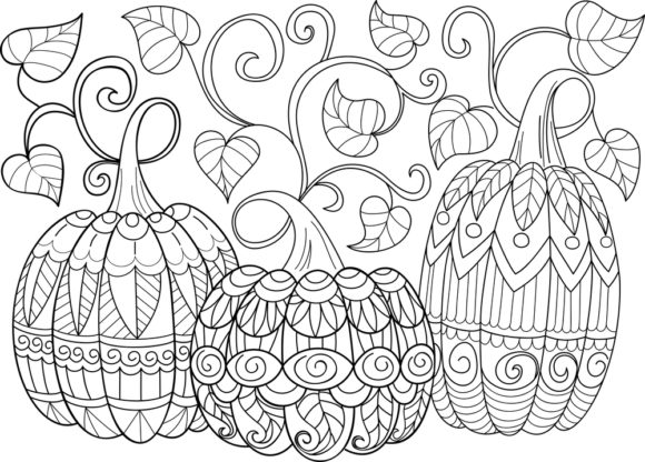 Print on Demand: Halloween Coloring Page Vector Graphic Coloring Pages & Books Adults By ajubayer555 - Image 5