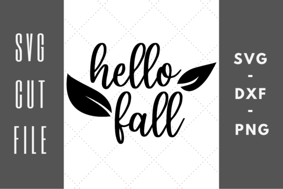 Print on Demand: Hello Fall Autumn Leaves Graphic Crafts By Abigail Burt Designs