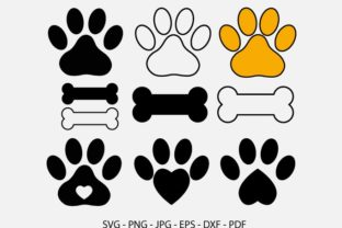 Paws Bundle, Cut Files, Dog Bone Cat Graphic Crafts By RedCreations