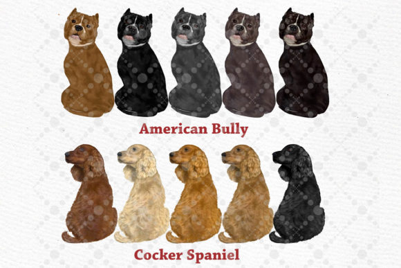 People with Dogs,dogs Clipart,Dog Breeds Graphic Illustrations By LeCoqDesign - Image 3