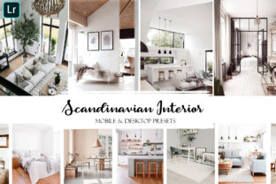 Scandinavian Interior Lightroom Presets Graphic Actions & Presets By liquid amethyst art