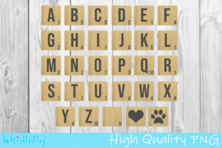 Print on Demand: Scrabble Tiles Scrabble Letter Graphic Crafts By Whistlepig Designs