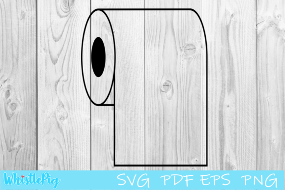 Print on Demand: Toilet Paper Bathroom Tissue Graphic Crafts By Whistlepig Designs