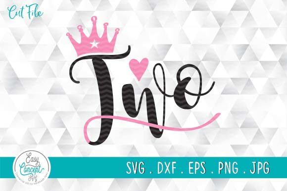 Two | 2nd Birthday | Baby Girl Graphic Crafts By EasyConceptSvg