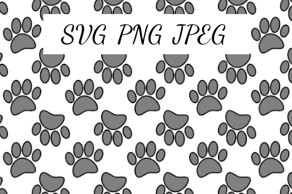 Print on Demand: Up and Down Dog Paw Prints Graphic Illustrations By almdrs