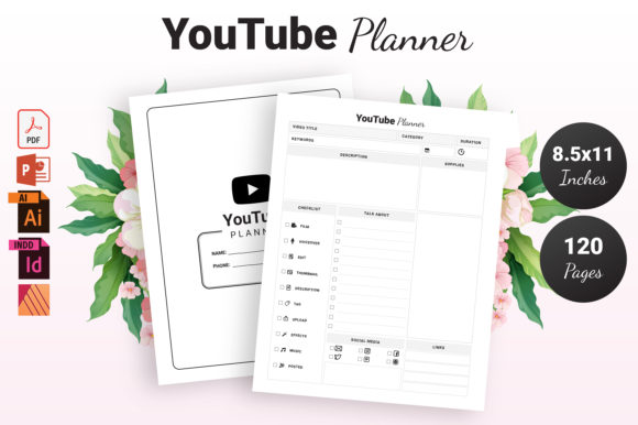 Print on Demand: YouTube Planner - KDP Interior Graphic KDP Interiors By KDP Ninja