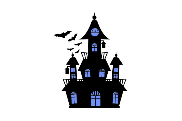 Haunted House Designs & Drawings Craft Cut File By Creative Fabrica Crafts