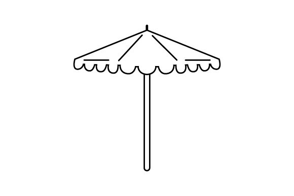 Scalloped Umbrella Spring Craft Cut File By Creative Fabrica Crafts - Image 1