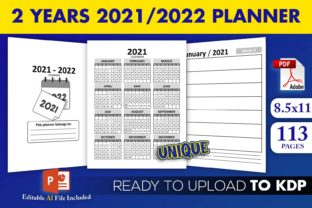 Print on Demand: 2 Years 2021/2022 Planner | KDP Interior Graphic KDP Interiors By Beast Designer
