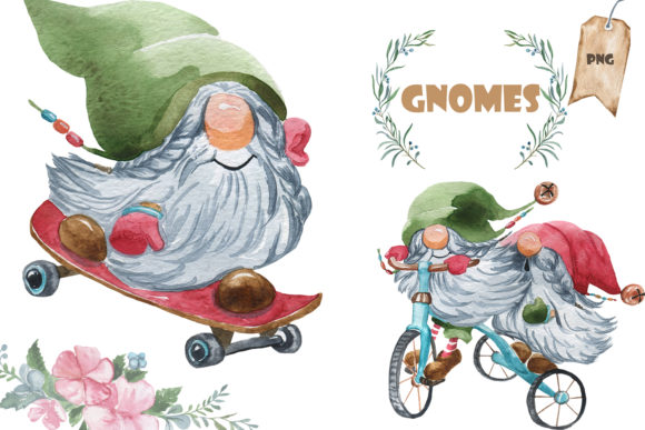 Print on Demand: 20 Gnomes Graphic Illustrations By laffresco04