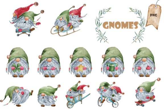 20 Gnomes Graphic Download
