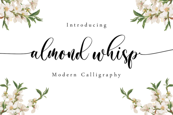 Print on Demand: Almond Whisp Script & Handwritten Font By Sronstudio