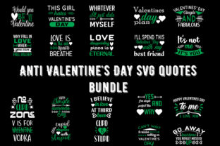 Print on Demand: Anti Valentine's Day Quotes Bundle Graphic Print Templates By Design_store