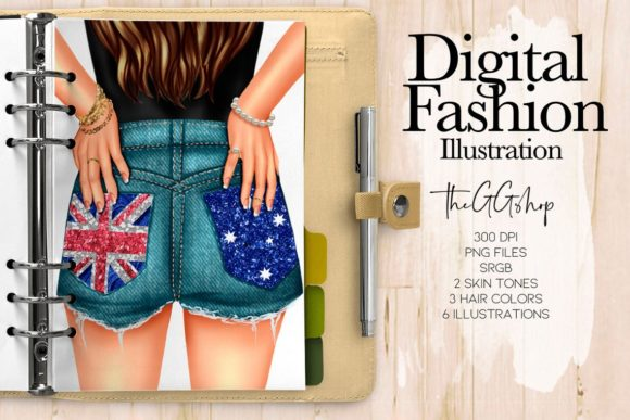 Print on Demand: Aussie Giel Planner Clipart Graphic Illustrations By TheGGShop