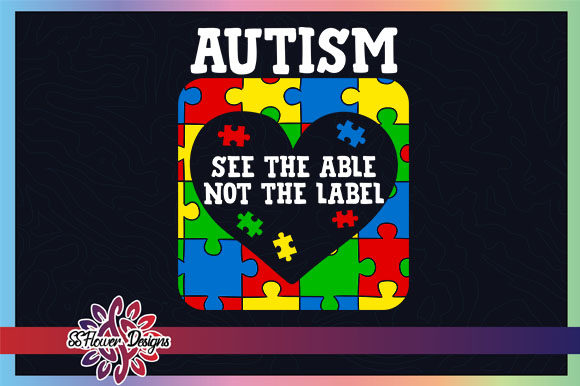Autism See the Able Not the Label Puzzle Graphic Crochet Patterns By ssflower