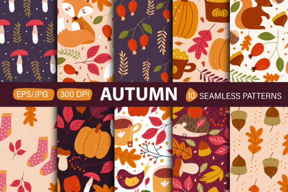 Print on Demand: Autumn Seamless Patterns. Graphic Patterns By FindsArtDesign