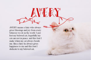 Print on Demand: Avery Display Font By Hydric Design