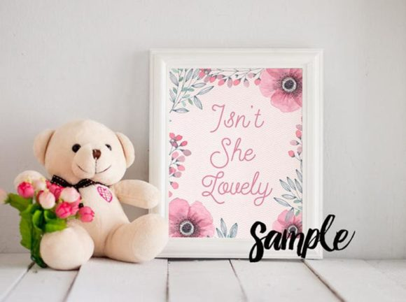 Print on Demand: Baby Frame Mock Up, White Frame Clip Art Graphic Product Mockups By SunflowerLove