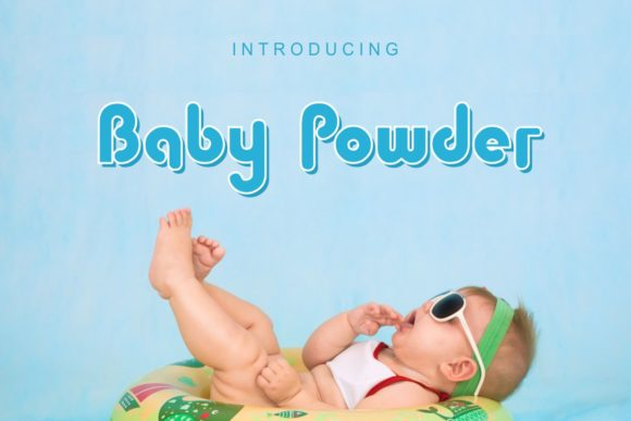 Print on Demand: Baby Powder Display Font By Pidco.art