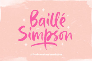 Print on Demand: Baille Simpson Script & Handwritten Font By letterhend