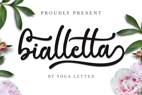 Print on Demand: Bialletta Script & Handwritten Font By yogaletter6