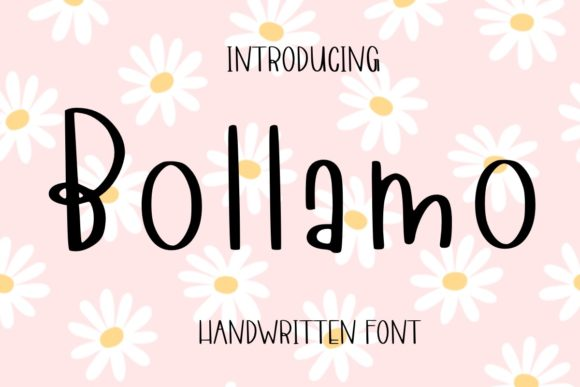 Print on Demand: Bollamo Script & Handwritten Font By Ality