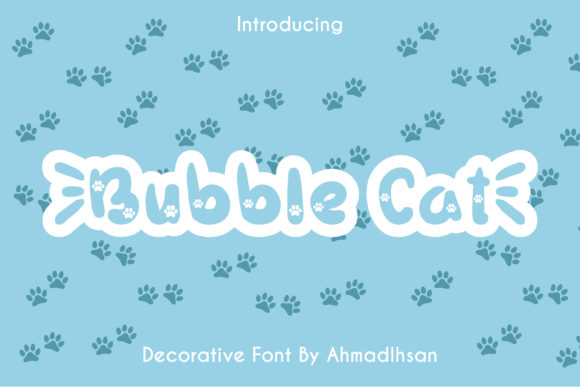 Print on Demand: Bubble Cat Display Font By Creative Insomniac