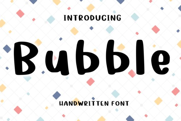 Print on Demand: Bubble Display Font By Ality