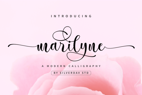 Print on Demand: Marilyne Script & Handwritten Font By silverdav
