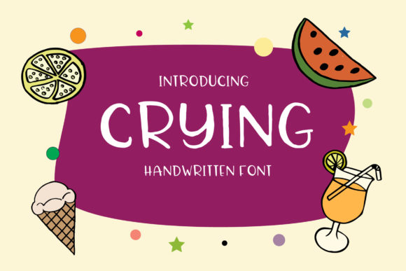 Print on Demand: Crying Script & Handwritten Font By Alit Design