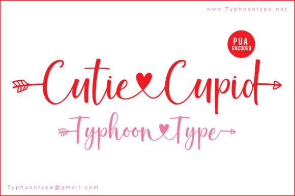 Print on Demand: Cutie Cupid Script & Handwritten Font By Typhoon Type - Suthi Srisopha