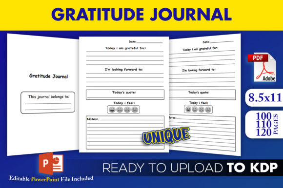 Print on Demand: Daily Gratitude Journal | KDP Interior Graphic KDP Interiors By Beast Designer