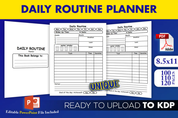 Print on Demand: Daily Routine Planner | KDP Interior Graphic KDP Interiors By Beast Designer