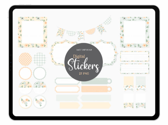Digital Stickers Dear Periwinkle Graphic Illustrations By Sweet Shop Design