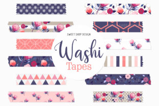 Digital Washi Tape Protea Flowers Graphic Illustrations By Sweet Shop Design