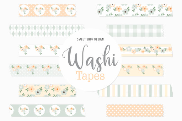 Digital Washi Tape Dear Periwinkle Graphic Illustrations By Sweet Shop Design