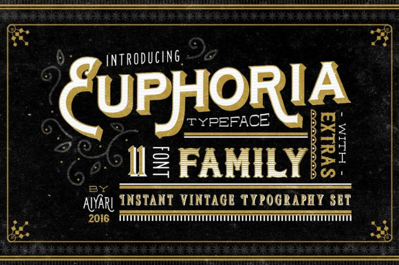 Print on Demand: Euphoria Sans Serif Font By ameyamathur